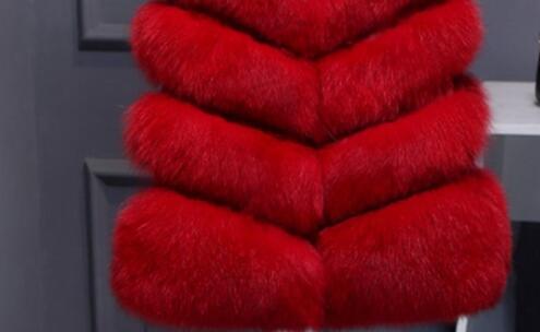 SHUANGA Damen Faux Fur Weste /Ärmellose Weste K/örper Warmer JackenmantelFaux Pelz M/äntel Pelzmantel Felljacke Warme Pl/üschmantel Kunstpelz Coats Faux Kunstfell Overcoat Winter Thick Outerwear