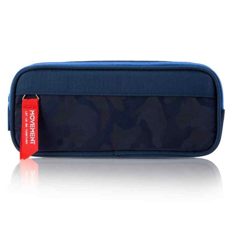 Canvas Pencil Case School Large Capacity Double Zipper Waterproof  Pencil Bag Pouch Office Students Kids Supplies