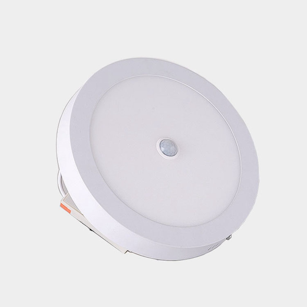 Led Panel Light Ceiling Lamp PIR Human Body Motion Sensor Induction Downlight AC 220V 6W/12W/18W/24W LED Round  Panel