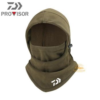 Winter DAIWA Fishing Mask Men's Outdoor Warm and Windproof Cycling Headgear Polar Fleece Face Protection Bib Fishing Hat 3