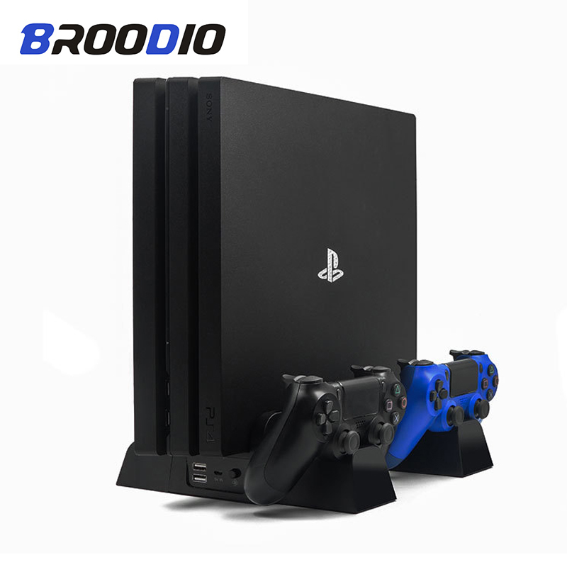 Charger Console Charging-Station Vertical-Cooling-Fan-Stand Dual-Controller Slim-Pro