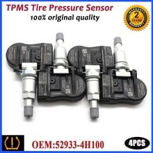 Reifen Reifen Druck Überwachung Sensor 52933 4H100 Für Hyundai H 1 Fracht Combi Van H100 I800 Starex [TQ] Für Kia k2700 [PU] 433MHz