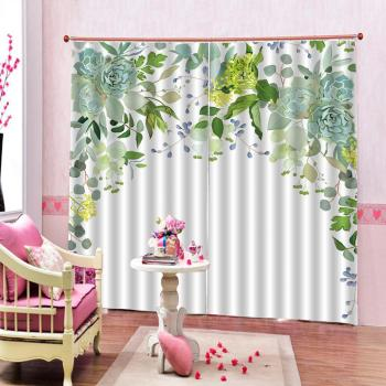 Green Leaf Flower Window Curtains Living Room Office Hotel Cortinas Home Bedroom Decoration Blackout 3d Curtain Buy At The Price Of 48 40 In Aliexpress Com Imall Com,Farmhouse Front Door Wreath Ideas