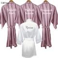Новинка, сиреневый халат novia, розовое золото, кимоно novia, атласное женское платье madrina dama de honor robe Espanol, испанские Свадебные вечерние халаты