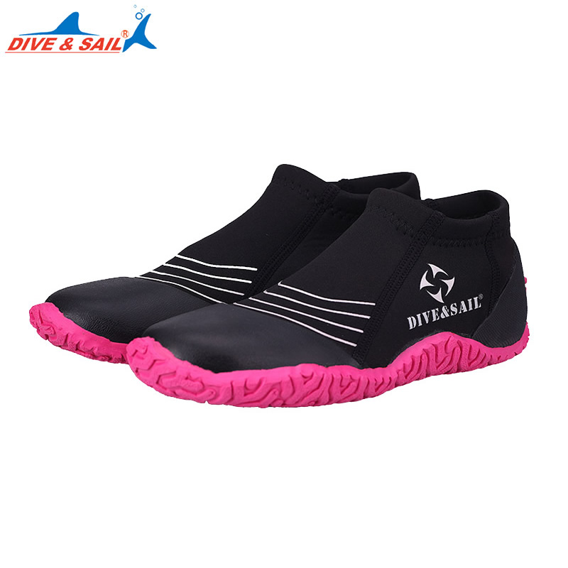 DIVE&SAIL Adult 3mm Neoprene Vulcanization Diving Shoes Anti-slip Anti-scratch Beach Water Shoes Wading Shoes Winter Swim Fins