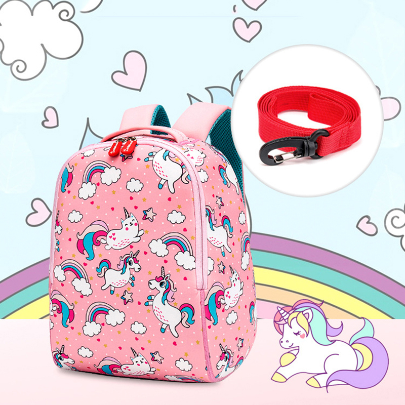 Children School Backpack 3D Cartoon Rainbow Unicorn Kids Toddler Backpack For Baby Girls Boys Kindergarten Kids School Bags