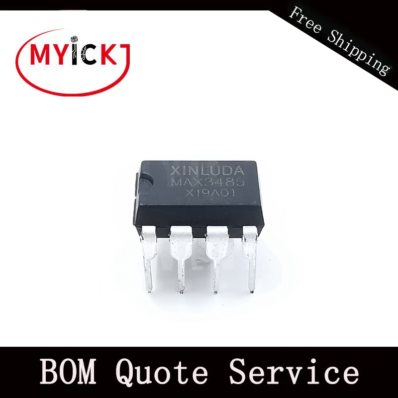 10PCS MAX3485 China Material 3.3V-Powered, 10Mbps And Slew-Rate-Limited True RS-485/RS-422 Transceivers  IC Chip