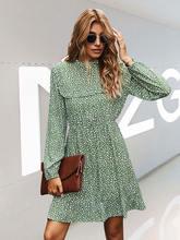 Женское шифоновое платье с длинным рукавом элегантное винтажное