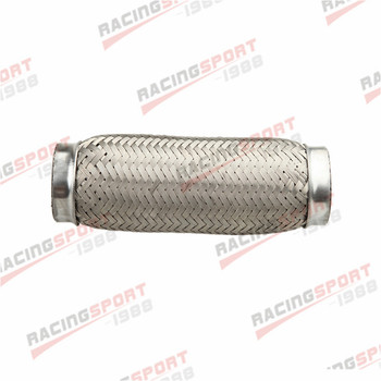 """4"""" Exhaust Flex Pipe 4"""" x 10"""" OL Heavy Duty Stainless Steel Interlock"""