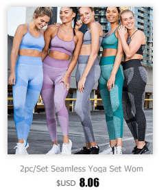 Seamless Yoga Set Fitness Clothing Women Sportswear High Waist Gym Leggings Tights Padded Push Up Sport Suit Women