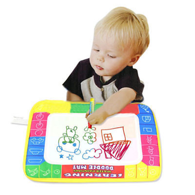 29X19cm 4 Color Mini Water Drawing Mat Aquadoodle Mat Drawing Painting Magic Pen Painting Decor Baby Play Mat