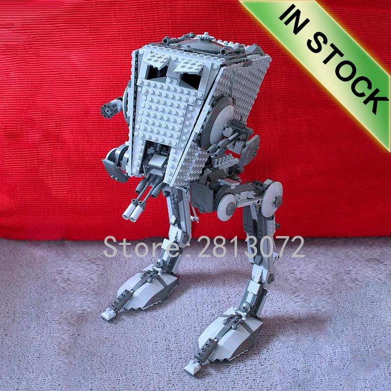 In Stock 05052 Star Series Wars The Empire ATST Walker Robot 1136Pcs Building Blocks Compatible 10174 10908 05130 75189