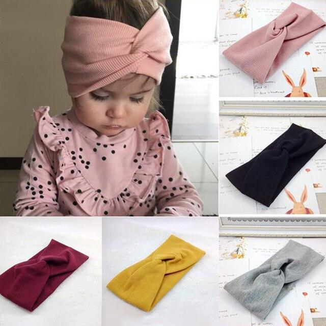 New Soft Elastic Cotton Newborn Girls Knit Hats