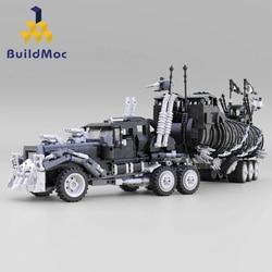 BuildMoc Modified truck lepining Technic Series War Rig may Mad-Max Movie Collection Model Building Blocks Kits Set Bricks Toys