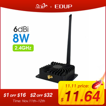 EDUP 2.4GHz 8W Wifi Power Amplifier 5GHz 5W Wifi Signal Booster Wireless Range Repeater for WI FI Router Accessories Antenna