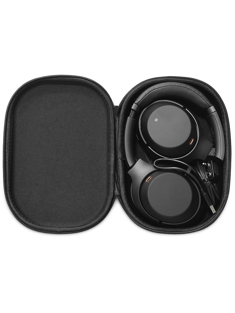 Bolso de almacenamiento de casco con Bluetooth para SONYWH-1000XM3, caja de almacenamiento a prueba de golpes, reproductor portátil, accesorios para auriculares