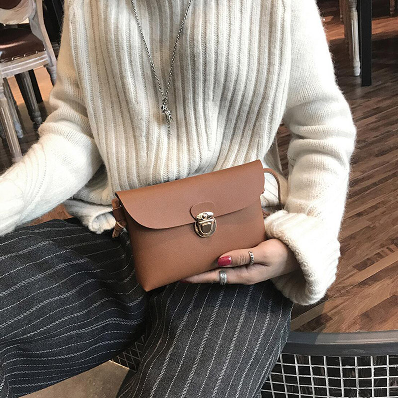 2020 New Solid Lock Women Bags Designer Super Light Square Single Shoulder Bag Flaps PU Leather Crossbody Ladies Purses