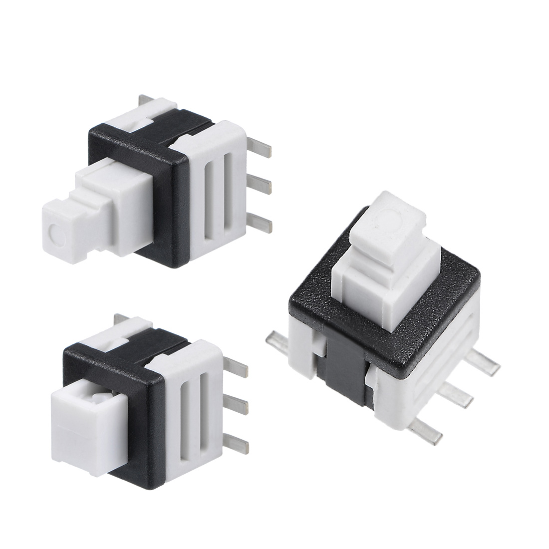 Uxcell Horizontal 2 Pins 2-Position Latching Torch Push Button Switch