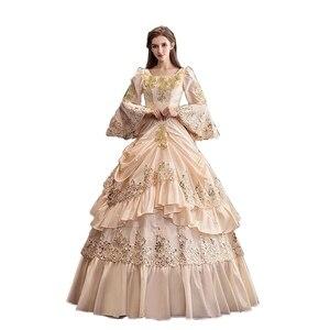 Бальное платье макрококо по индивидуальному заказу в стиле барокко, Мария-Антуанетта, бальное платье в викторианском стиле 18th Century, историч...