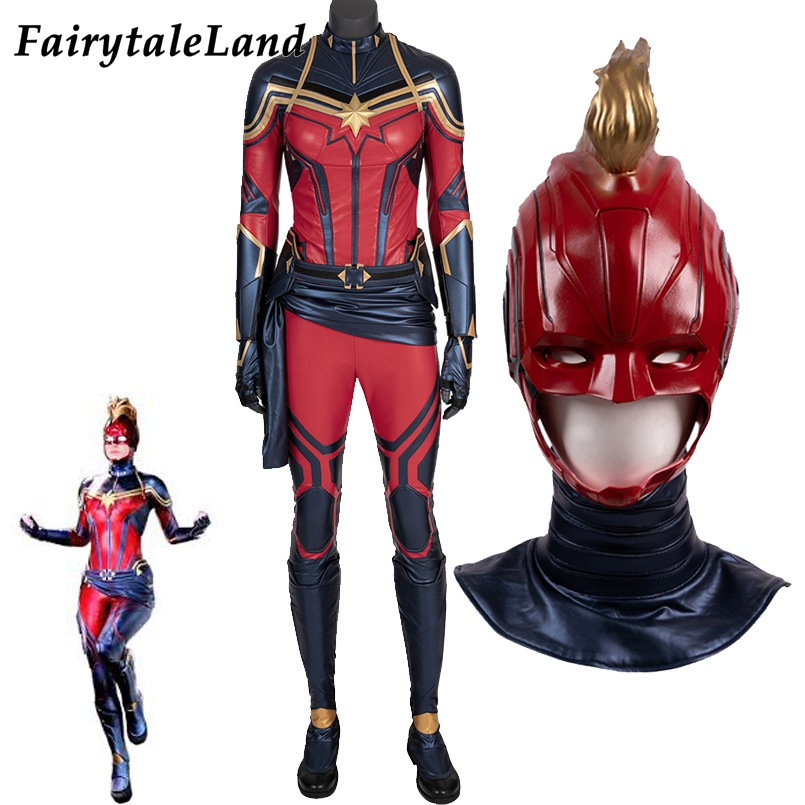 Carol Danvers Cosplay Costume Avengers Endgame New Suit Marvel American Superhero Halloween Costumes Captain Jumpsuit