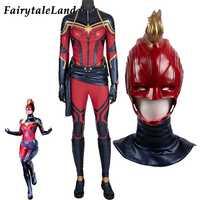 Carol Danvers Cosplay Kostüm Avengers Endgame Neue Anzug Marvel Amerikanischen Superhero Halloween Kostüme Kapitän Overall