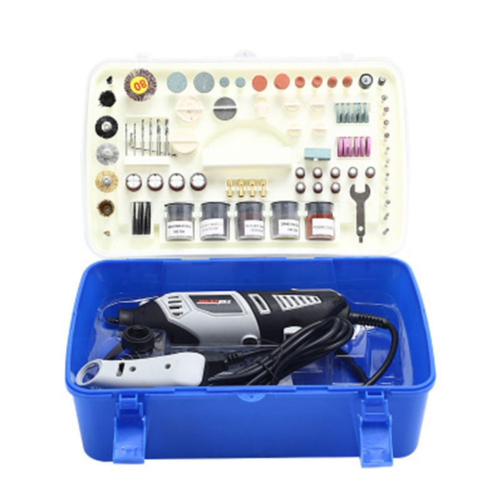 220V Variable Speed Electric Mini Drill Grinder Engraver Pen Rotary Tool Grinding Machine 218pcs set Accessories for Carving