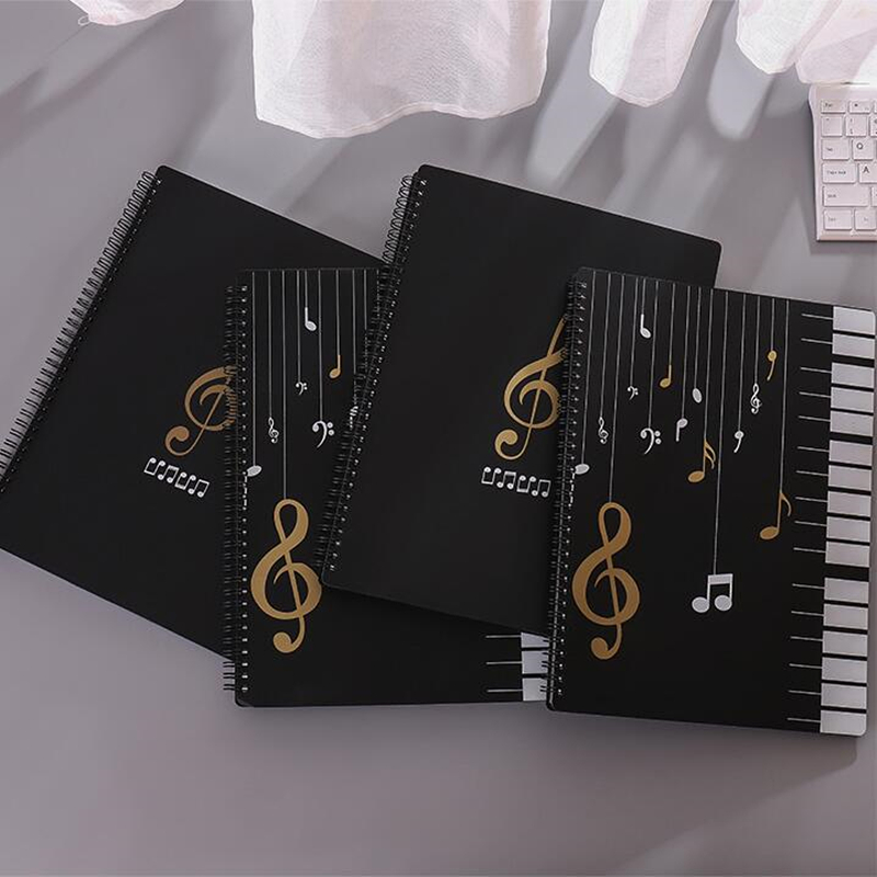 40-100 Pages A4 Music Sheet Folder Transparent Plastic Document File Piano Score Storage Organizer