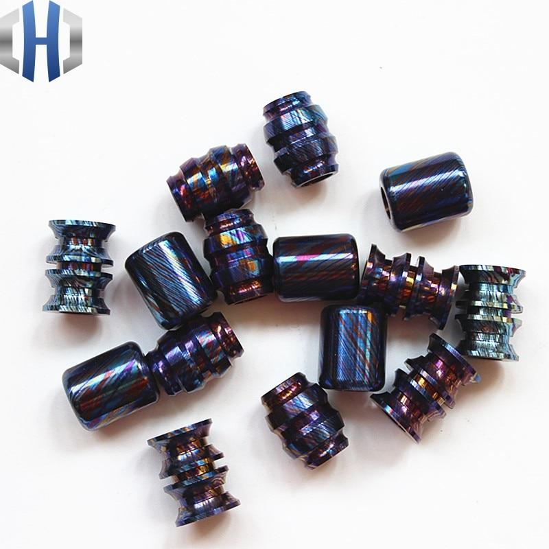 Titanium Damascus EDC Umbrella Rope Pendant Titanium Saber Pendant DIY Pendant Pendant Pendant Jewelry Bracelet Zipper Pendant