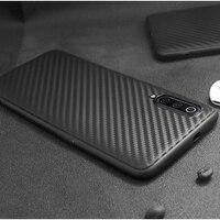 Voor Xiaomi Mi 9T Pro Mi 9Se 8 Lite Case Ultra-Dunne Zachte Tpu Carbon Fiber Bescherm Back Cover case Voor Xiaomi Mi A3 A2 Lite F1