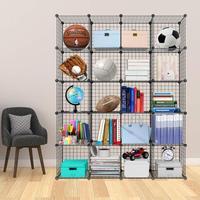 Metal Wire Storage Bookcase Bookshelf Toy rack Industrial Decoration DIY Storage Home furniture Wire Standing Storage Wardrobe