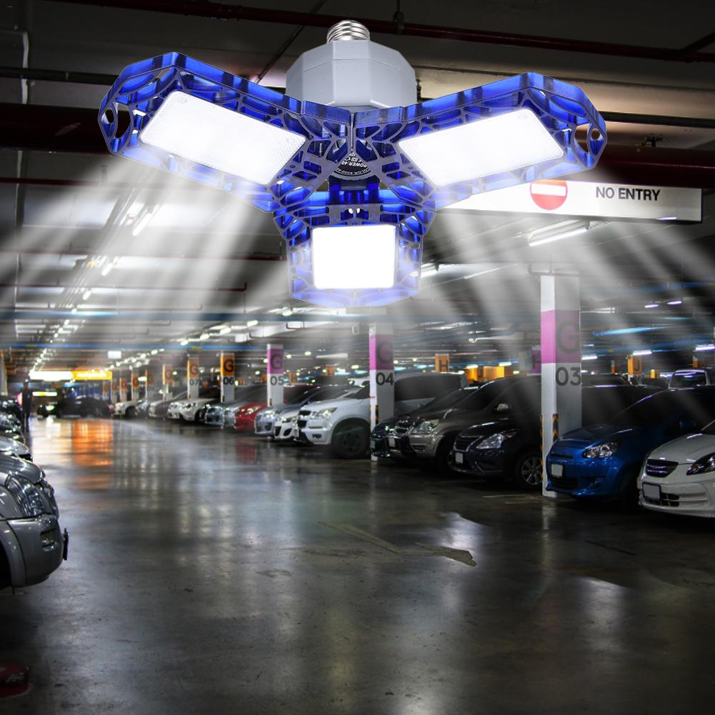 Super Bright E26/E27 60W UFO LED High Bay Garage Lamp AC 85-265V Waterproof IP65 Industrial Lighting 6000LM For Warehouses