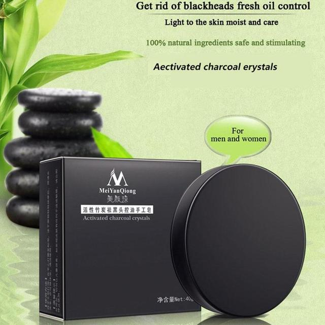 Natural Bamboo Charcoal Soap Clean Whitening Soap Blackhead Remover Acne Treatment Oil Control Soaps Skin Care Treatment 4