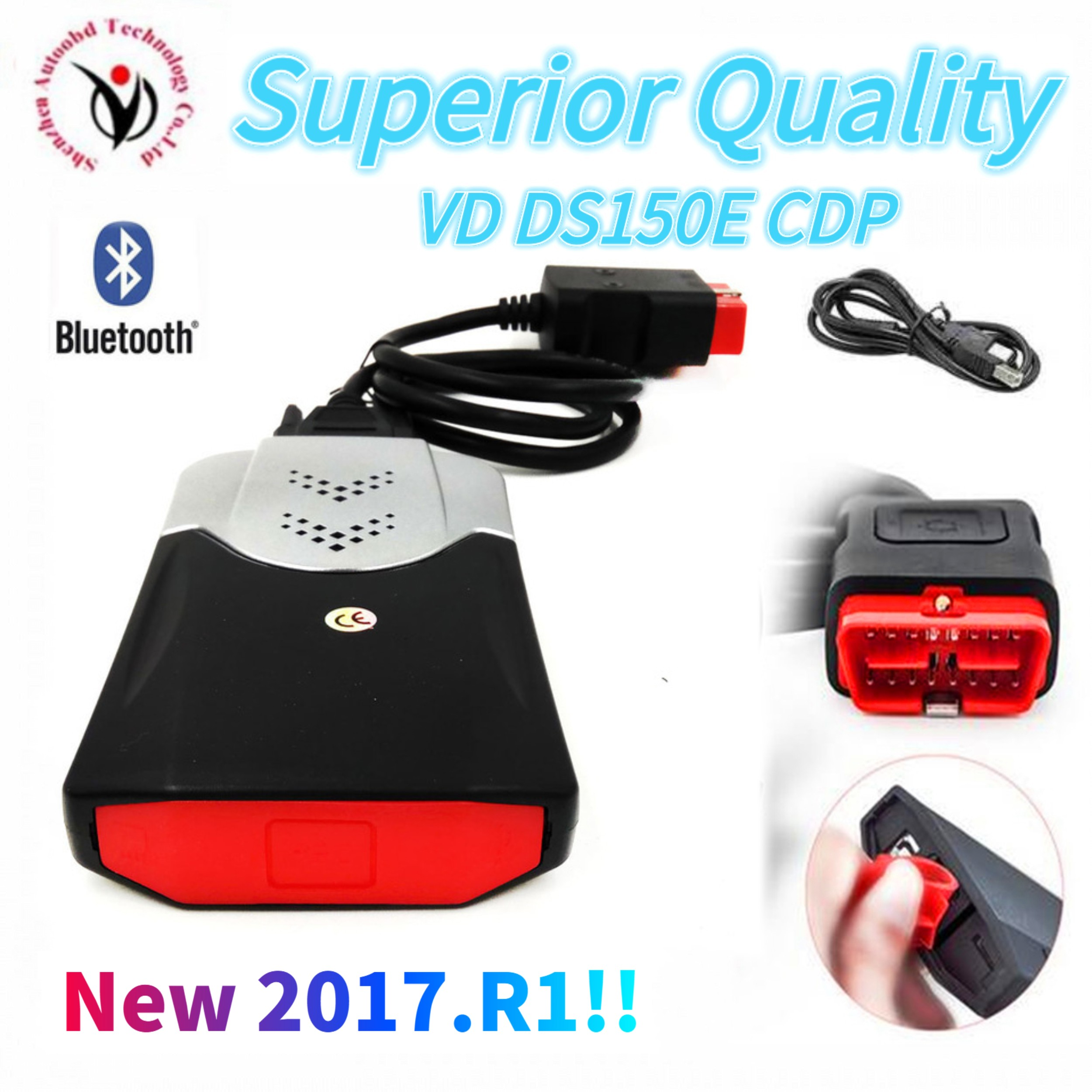 2020 Newest 2016 R0 with keygen for delphis vd ds150e cdp bluetooth car truck OBD2 diagnostic tool vd tcs cdp pro plus Scanner