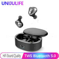 TWS Wireless Earphone Stereo Bluetooth Headphone Sports Earbuds Gaming Headset, 6D Stereo Sound Noise Canceling in-Ear
