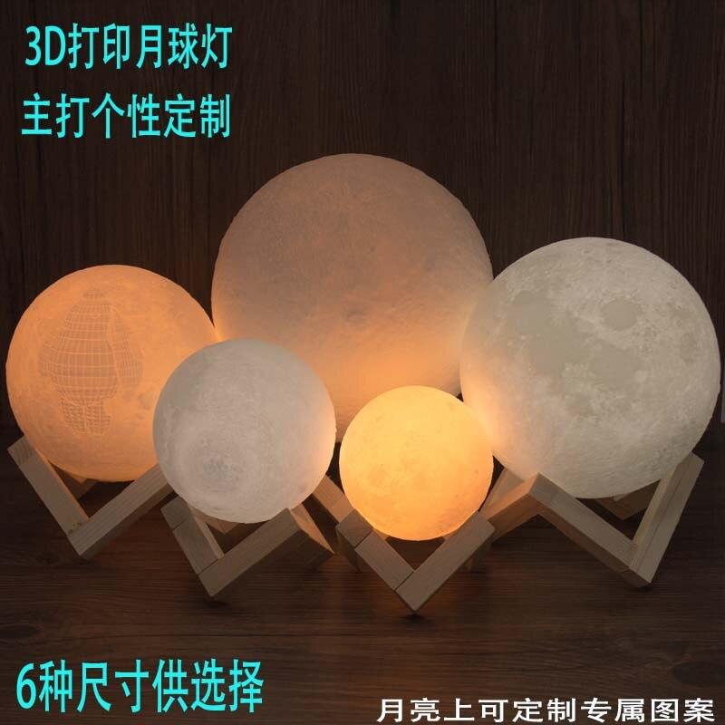 Creativo 3d lámpara De Luna LED luz de noche extraño nuevo regalo de estilo europeo pequeño lámpara de mesa luces decorativas Custo