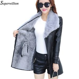 Leather Jacket Women Suede Coat Female 2020 Winter Long Sleeve Faux Leather Coat Motorcycle Fur Jacket Ladies PU Plus Size PR9