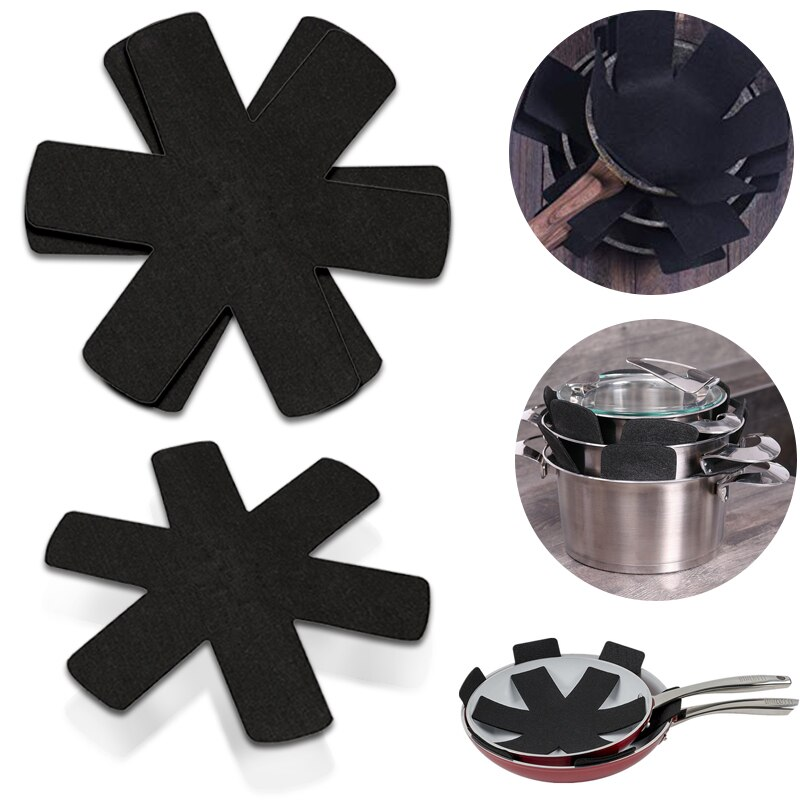 1/3/5/8pcs Pot Pan Protectors Non-woven Fabrics Prevent Pads Pot Protect Scratching Divider Cookware Surfaces Separate(China)