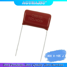 10PCS CBB electricity 400V 105J Leg distance 20 mm Blocking down 105J 400V 1UF