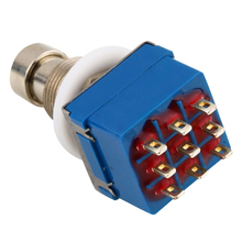 цена на 9-Pin 3Pdt Metal Stomp Foot Switch For Guitar Effects Pedal Box True Bypass Guitar Accessories guitarra ukelele