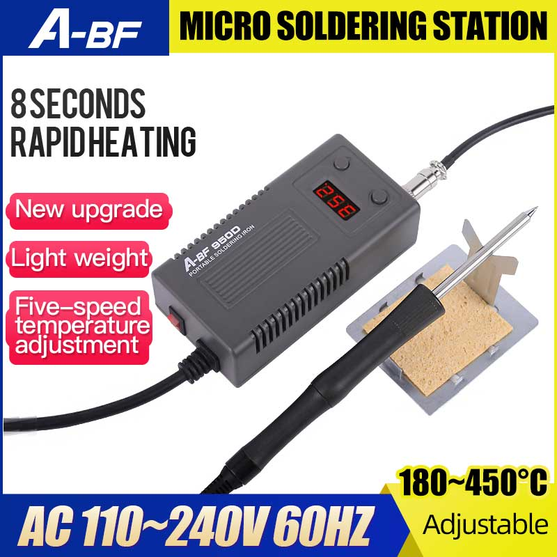 A-BF 950D Micro Löten Station 50W Mini Intelligente Temperatur Einstellbar Reparatur Elektrische Eisen Rework Station Schnelle Wärme Up