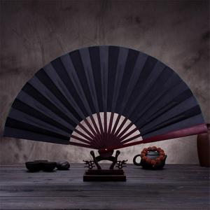 Image 4 - 10.6 אינץ/13 אינץ משי בד ריק סיני מתקפל מאוורר עץ במבוק עתיק מתקפל מאוורר עבור קליגרפיה ציור