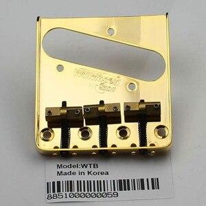 Image 4 - Wilkinson Wtb Chrome Silve Zwart Goud Vintage Stijl Vaste Tele Elektrische Gitaar Brug Met Messing Zadels Voor Tl Gitaar Brug