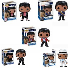 FUNKO POP Vinyl dolls MICHAEL JACKSON BEAT IT BILLIE JEAN BAD Action Figures Collection Model Toys for Children Birthday gift 2017 funko pop batman action figure toys plastic vinyl figures desk toys birthday christmas gift for kids children