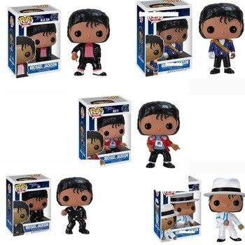 цена на FUNKO POP Vinyl dolls MICHAEL JACKSON BEAT IT BILLIE JEAN BAD Action Figures Collection Model Toys for Children Birthday gift