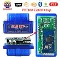 Супер мини-сканер 10 шт./лот OBD2 ELM327 Bluetooth V2.1 ELM 327 V1.5 PIC18F25K80 работает на Android/Windows поддерживает протоколы OBDII
