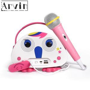 Karaoke máquina para crianças com microfone portátil jogador alto-falante para casa ao ar livre viagens atividades presente de natal para crianças