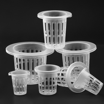 50Pcs Hydroponic colonization Mesh Pot Net Cup Basket Hydroponic Aeroponic Planting Grow Clone Nursery Plant Soilless