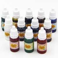 12 Color UV Resin Ultraviolet Curing Resin Liquid Pigment Dye Handmade Art Craft O16 19 Dropship