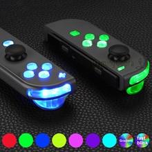 Extremerate 7 Kleuren 9 Modi Knop Dfs Led Kit Multi Kleuren Luminated Abxy Trigger Gezicht Knoppen Voor Ns Schakelaar joycon Controller