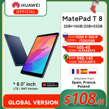 Global Version HUAWEI MatePad T8 2GB 16GB/32GB LTE WIFI Tablet PC 8.0 inch faceunlock 5100mAh Support microSD Card Android10 T8